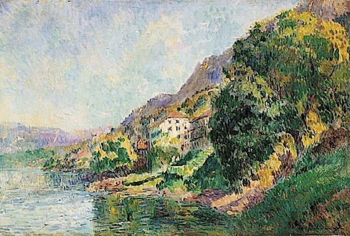 Saint Gingolph, Les Bords du Leman, 1902 - Albert Lebourg - JPEG - 231.2 ko